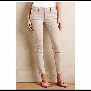 NWT Mother Looker Ankle Fray Corduroy Pants M4